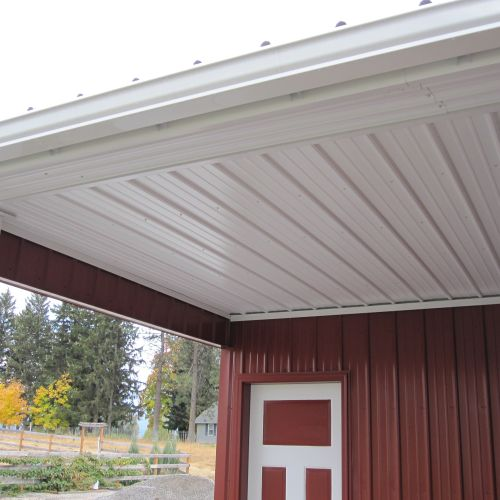 Soffit Panel- Rolled Rib - Surf White